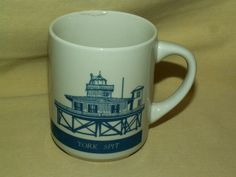 AMP MUG PEDESTAL IRISH COFFEE TEA CUP WE'RE QUALITY CONNECTED BLUE