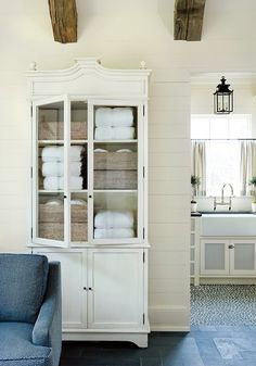 antique hutch for linens