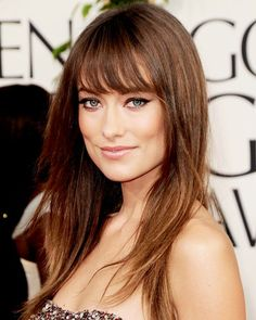 Olivia Wilde's perfect bangs.  Wispy, not too thin not too full