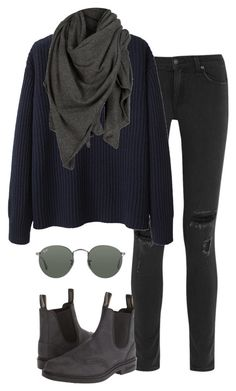 """Untitled #319"" by lucy-xoxo ❤ liked on Polyvore featuring rag & bone, Blundstone, Ray-Ban, Wood Wood and AllSaints"