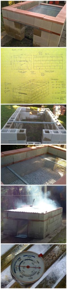 Trendy backyard bbq grill design built ins Ideas Backyard Bbq Pit, Backyard Hammock, Backyard Kitchen, Backyard Fences, Backyard Projects, Pit Bbq, Diy Projects, Foyers, Brick Grill