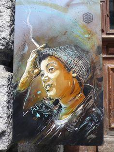 Stencil Art by C215 in Zurich
