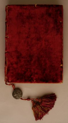 Binding from Dogale for Polo Contarini. Venetian (?) (Binder) late 16th century (Renaissance) red velvet with red cording