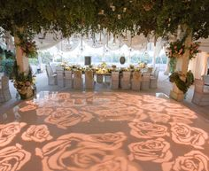 Who : Mindy Weiss Location : Beverly Hills, California Most Notable Celebrity Weddings : Tamera Mowry and Adam Housley, Lala Vasquez and Carmelo Anthony, Hilary Duff and Mike Comrie Our favourite inspiring idea : A dance floor with rose-shaped illumination. This is a unique and beautiful way to encourage your guests to get up out of their seats and on to the dance floor after the meal is served.