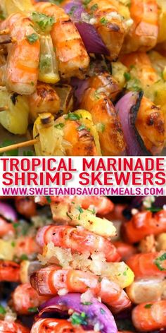 Grilled Shrimp Skewers is a unique twist on a classic outdoor meal! Juicy and flavorful with pieces of shrimp, pineapple, and veggies. #recipevideo #sweetandsavorymeals #shrimprecipes #shrimpskewers #grilling Healthy Crockpot Recipes, Easy Chicken Recipes, Grilling Recipes, Seafood Recipes, Healthy Dinner Recipes, Potato Recipes, Grilled Shrimp Skewers, Tasty Videos, Homemade Soup