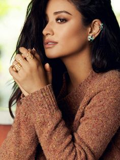 Shay Mitchell for BaubleBar fashion jewelry photoshoot 2016