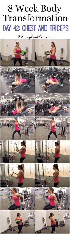 8 Week Body Transformation: Day 42 CHEST and TRICEPS.