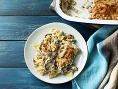Romige ovenpasta met verse dragon en oude kaas