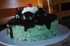 Chocolate Cake with Mint Chocolate Chip Frosting - Shugary Sweets