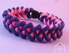Purple Pink Paracord Bracelet Shark Jaw Bone by SerendipityFinch
