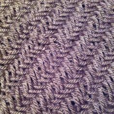 The herringbone knitting stitch...