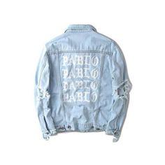 d325e1b3cc2b 2017 hip hop hole jackets men clothing pablo distressed ripped denim... ❤  liked