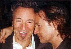 Bono and Bruce Springsteen #u2newsactualite #u2newsactualitepinterest #bono #theedge #larrymullen #adamclayton #u2 #music #rock #brucespringsteen