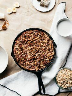 Chai Banana Bread Baked Oatmeal | Faring Well | #vegan #glutenfree #recipe