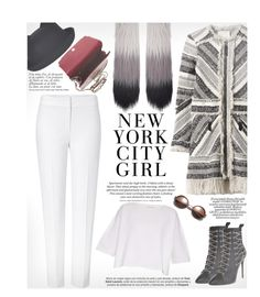 """NEW YORK CITY GIRL"" by mockingjayafire ❤ liked on Polyvore featuring Nico, Rebecca Taylor, Unreal Fur, Giuseppe Zanotti, Marc, ESCADA, Helmut Lang, women's clothing, women and female"