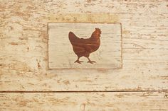 Rustic Wooden Rooster Sign - Chicken Rooster Wall Art - Farmhouse Chicken Sign - Reclaimed Wood Chicken Sign - Chicken Coop Decor