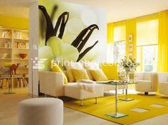 Yellow Sofa With Tan Walls