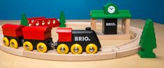 BRIO Classic Figure 8 Set -- The Play Trains! Guide to Wooden Train Sets: expert advice on the best wooden train set to buy for your little engineer. Educational Toys For Toddlers, Learning Toys, Train Sets For Toddlers, 3 Year Old Toys, Ride On Train, Kids Power Wheels, Best Christmas Toys, Best Toddler Toys, Wooden Train