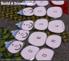Snowman counting on! Students build snowmen by counting on!