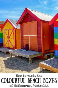 Want to catch the train to Brighton Beach to see the Melbourne Beach Boxes? Australia Tourism, Visit Australia, Melbourne Australia, Western Australia, Australia Honeymoon, Australia Holidays, South Australia, Melbourne Travel, Melbourne Beach