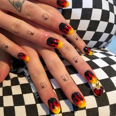 flame nails by fleury rose.