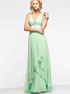 6426974b598e1 Sexy Mint Chiffon Formal Dress Evening Dress  Prom Dress 2015 faviana 6916