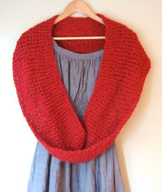 Red Eternity Scarf by DottieQ
