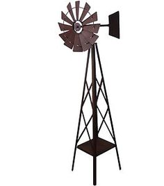 Superbe Windmill Metal Garden Ornament Iron Sculpture Big Large *161cm