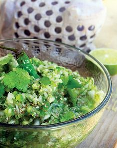 Tomatillo Chia Salsa is a healthy salsa recipe packed full of fiber and omega fatty acids thanks to chia seed.