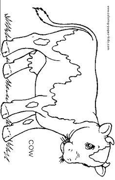 Farm Animals Symmetry Activity Coloring Pages | Hantverk, Djur och Matte