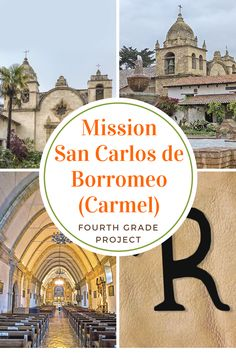 The old mission in Carmel is one of the most beautiful in California, but hard to make a model of. California Missions, California Dreamin', Project R, Travel Expert, Fourth Grade, School Projects, Teaching Kids, Taj Mahal, Places To Go