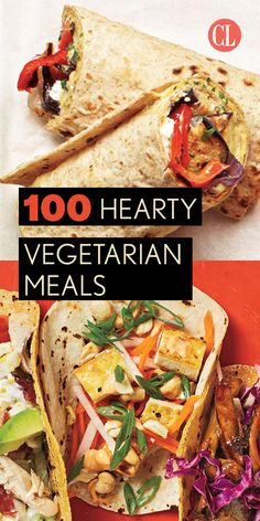 Our healthy and hearty main dishes will have you swooning—sans meat. Our vegetarian recipes are full of flavor and provide tasty meatless options without sacrificing the nutrients your body needs. | Cooking Light