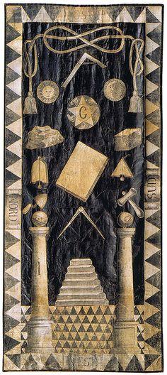 Tracing board - Masonic High Council Meeting at London England (1790)