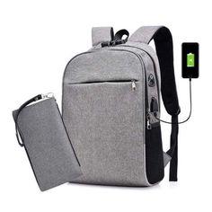 5b7487389d Sac à dos multifonctions charge USB Sac à dos pour les étudiants, les  employés de