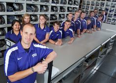In his 10th season at TCU, Assistant Athletics Director for Equipment Services Matt Lewis and his staff keep track of the massive inventory of football team gear, including more than 1,000 pairs of shoes.