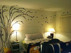 Electric tape and fabric = awesome original wall decal