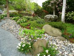 River Rock Design Ideas river rock garden edging ideas photo 3 Modern Landscape Front Yard Designer Design Ideas Pictures Remodel And Decor Dry Riverbed Landscapingriver Rock