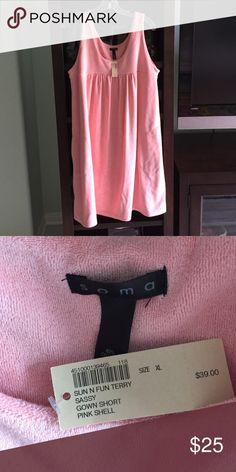 XL Soma shirt terry cloth shift XL Soma NWT shortie shift terry cloth. With pockets. Peach/pink Soma Intimates & Sleepwear Chemises & Slips