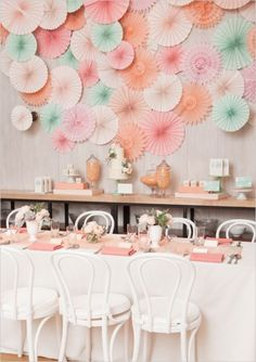 Pretty pastels will always be a great color scheme for a bridal shower.
