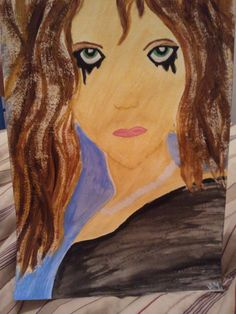 I painted this about 2 months ago....I show my emotions through my art...guess how I was feeling that night.