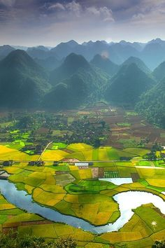 """Bac Son Valley, Vietnam Gorgeous. """"Would love to visit Viet Nam. I lived there in 1967-1969 as a kid and my parents worked in Saigon."""""""