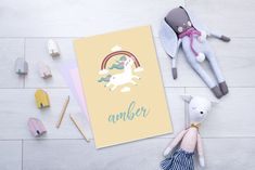 unicorn personalised poster, printable poster for childs room