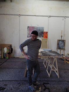 Patrick Hartl in seinem Atelier im Heizkraftwerk