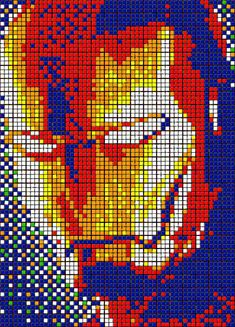 Iron man Rubik's Cube art