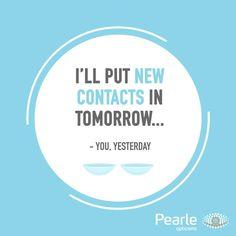 Blijft toch lastig.. #contactlenzen Best Quotes, Chart, Pearls, Fun, Optician, Eyewear, Best Quotes Ever, Beads, Hilarious