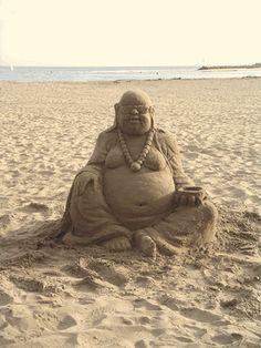 Sand Buddha Sculpture on the Beach Buddha Kunst, Buddha Art, Snow Sculptures, Sculpture Art, Buddha Sculpture, Zen, Little Buddha, Statues, Ice Art