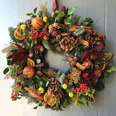 48 Christmas Wreath Ideas to Add Festive Cheer to Your Front Door These trendy Home Decor ideas would gain you amazing compliments. Check out our gallery for more ideas these are trendy this year. Christmas Wreaths To Make, Christmas Flowers, How To Make Wreaths, Holiday Wreaths, Christmas Crafts, Christmas Decorations, Christmas Things, Christmas Ideas, Holiday Decor