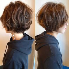 パーマ ハンサムショート ショート フェミニン×ヘアデザインサロンCiel×魚住理恵子×514642【HAIR】 Tomboy Hairstyles, Long Face Hairstyles, Pretty Hairstyles, Hairstyle Ideas, Messy Short Hair, Girl Short Hair, Short Hair Cuts, Shot Hair Styles, Curly Hair Styles