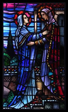 "Original stained glass window, Harry Clarke Studios: ""The Visitation."