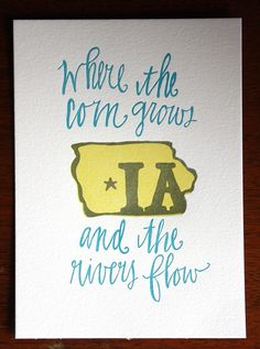 "I love this... and I think I might someday end up with an ""I love Iowa"" themed home."